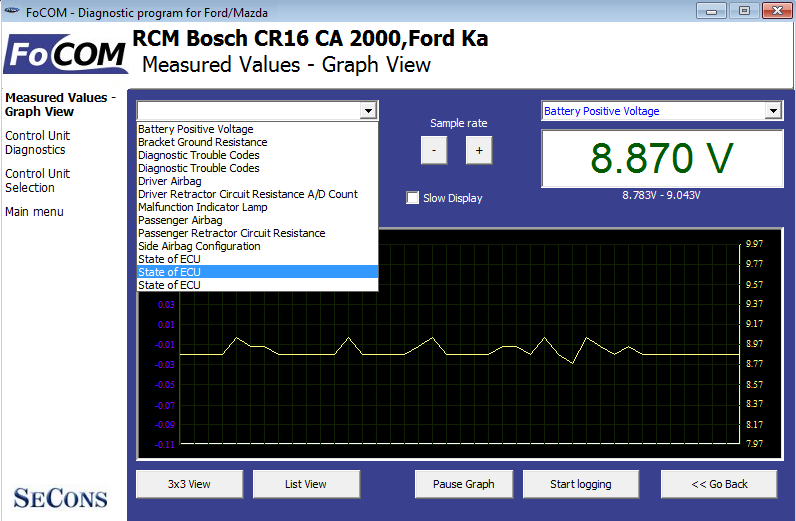 focom06: OBD-II diagnostic program screenshot